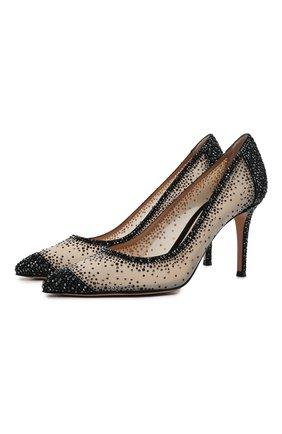 Женские комбинированные туфли rania 85 GIANVITO ROSSI бежевого цвета, арт. G20475.85RIC.C0ZNENU | Фото 1