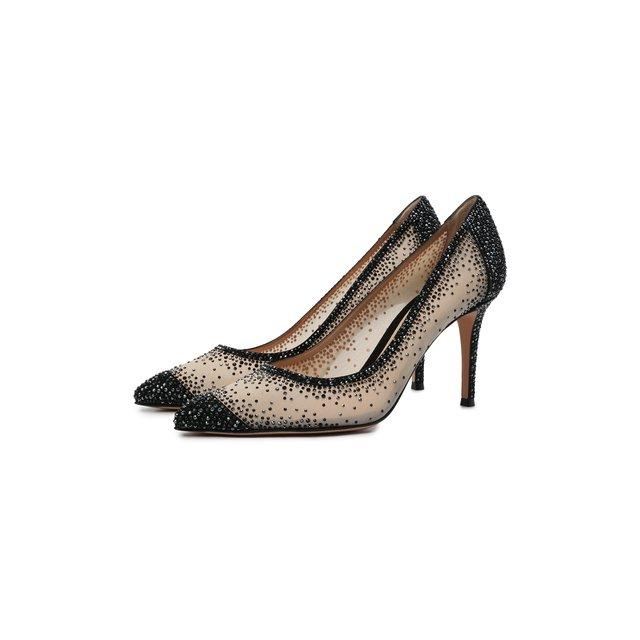 Комбинированные туфли Rania 85 Gianvito Rossi
