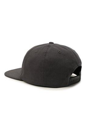 Мужской хлопковая бейсболка HARLEY-DAVIDSON темно-серого цвета, арт. 97685-21VM   Фото 2 (Материал: Хлопок, Текстиль)