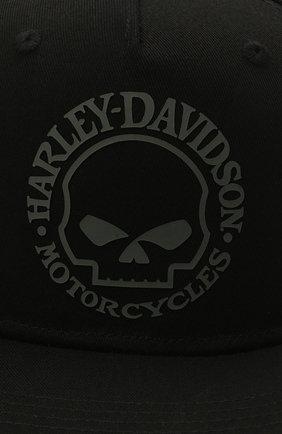 Мужской хлопковая бейсболка HARLEY-DAVIDSON черного цвета, арт. 97687-21VM | Фото 3 (Материал: Текстиль, Хлопок)