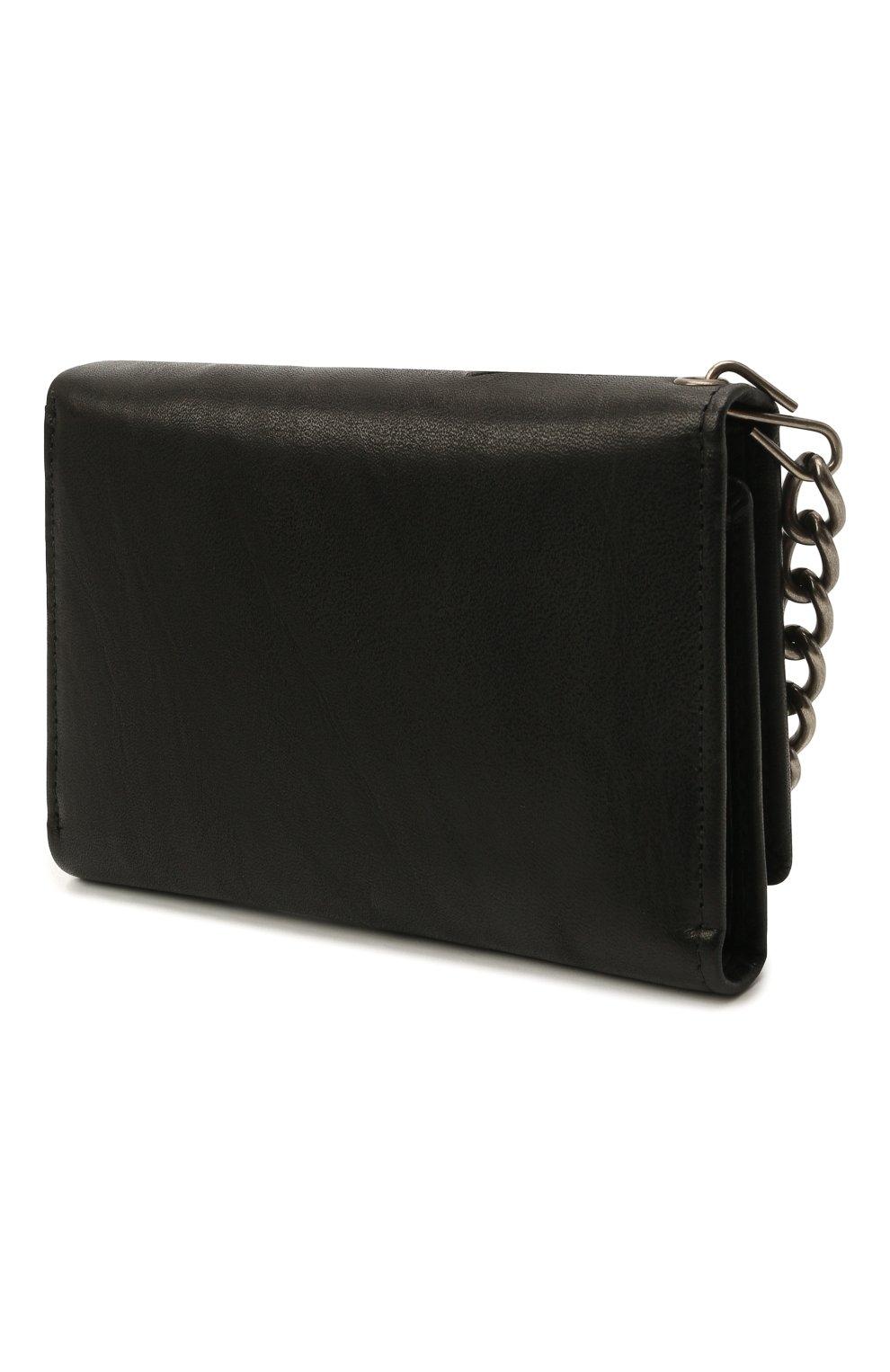 Мужской кожаное портмоне HARLEY-DAVIDSON черного цвета, арт. CR2314L-Black   Фото 2