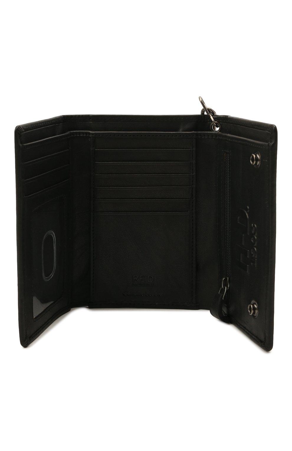 Мужской кожаное портмоне HARLEY-DAVIDSON черного цвета, арт. CR2314L-Black   Фото 3