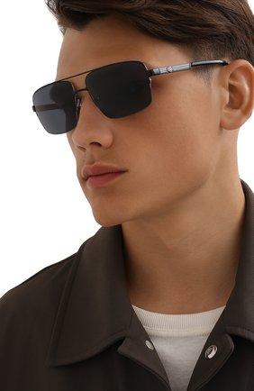 Мужские солнцезащитные очки HARLEY-DAVIDSON черного цвета, арт. HD 0953X 02A   Фото 2 (Тип очков: С/з; Оптика Гендер: оптика-мужское; Очки форма: Авиаторы)
