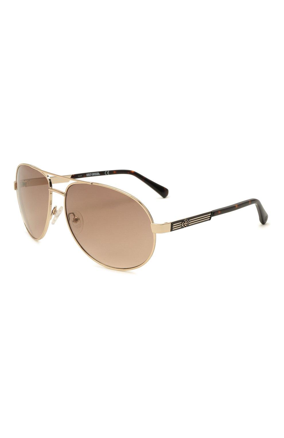 Мужские солнцезащитные очки HARLEY-DAVIDSON коричневого цвета, арт. HD 0954X 32G   Фото 1 (Тип очков: С/з; Очки форма: Авиаторы; Оптика Гендер: оптика-мужское)