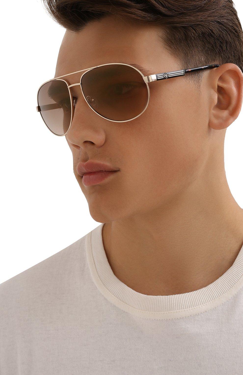 Мужские солнцезащитные очки HARLEY-DAVIDSON коричневого цвета, арт. HD 0954X 32G   Фото 2 (Тип очков: С/з; Очки форма: Авиаторы; Оптика Гендер: оптика-мужское)