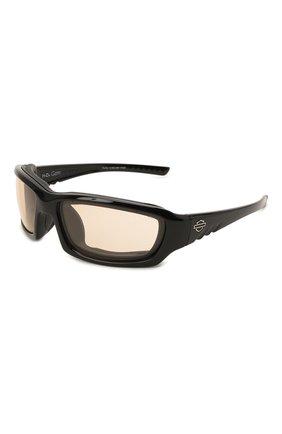 Мужские солнцезащитные очки HARLEY-DAVIDSON черного цвета, арт. HDGEM08   Фото 1 (Материал: Пластик; Тип очков: С/з; Очки форма: Узкие; Оптика Гендер: оптика-мужское)