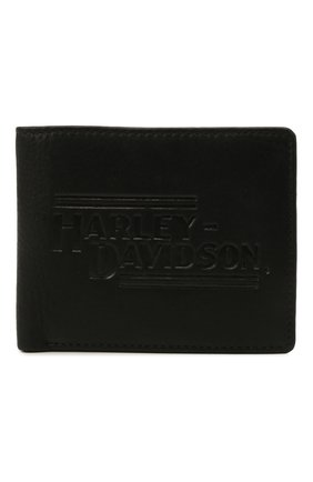 Мужской кожаное портмоне HARLEY-DAVIDSON черного цвета, арт. IM2139L-Black   Фото 1