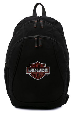Мужской рюкзак HARLEY-DAVIDSON черного цвета, арт. XBP1500-OrgBlk   Фото 1 (Материал: Текстиль)
