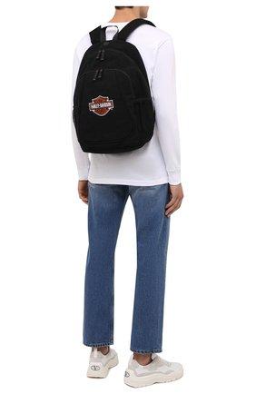 Мужской рюкзак HARLEY-DAVIDSON черного цвета, арт. XBP1500-OrgBlk   Фото 2 (Материал: Текстиль)