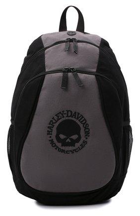 Мужской рюкзак HARLEY-DAVIDSON черного цвета, арт. XBP1536-GryBlk   Фото 1 (Материал: Текстиль)