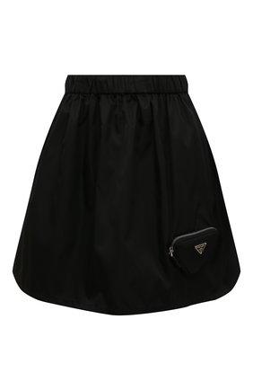 Женская юбка PRADA черного цвета, арт. 21H914-1WQ8-F0002-212   Фото 1