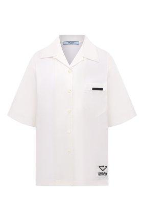Женская рубашка PRADA белого цвета, арт. 240691-1YFL-F0009-202   Фото 1