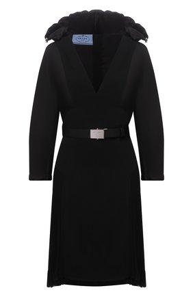 Женское платье PRADA черного цвета, арт. P3E75H-1Y2I-F0806-212   Фото 1