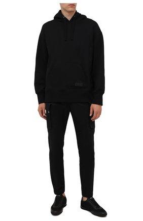 Мужские кроссовки BOSS черного цвета, арт. 50455313 | Фото 2 (Материал внешний: Текстиль; Подошва: Плоская; Стили: Спорт)