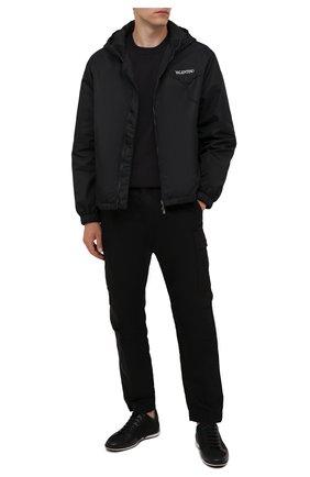Мужские кроссовки BOSS черного цвета, арт. 50455323 | Фото 2 (Материал внешний: Текстиль; Подошва: Плоская; Стили: Спорт)