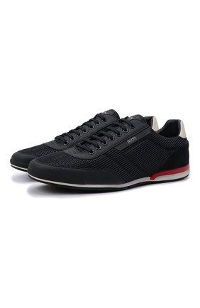 Мужские кроссовки BOSS темно-синего цвета, арт. 50455313 | Фото 1