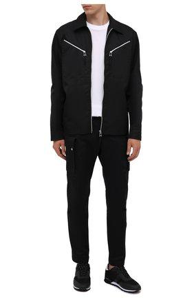 Мужские кроссовки BOSS черного цвета, арт. 50455306 | Фото 2 (Материал внешний: Текстиль; Стили: Спорт; Подошва: Массивная)