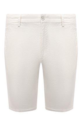 Мужские хлопковые шорты HUGO белого цвета, арт. 50449556 | Фото 1