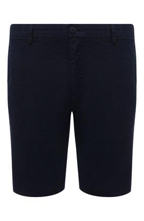 Мужские хлопковые шорты HUGO синего цвета, арт. 50449556 | Фото 1