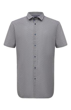 Мужская хлопковая рубашка BOSS синего цвета, арт. 50453296 | Фото 1