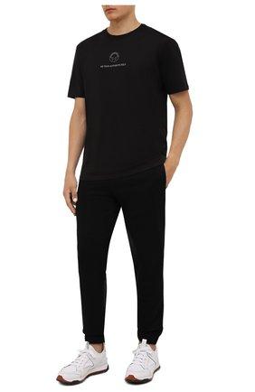 Мужская хлопковая футболка HUGO черного цвета, арт. 50454094 | Фото 2