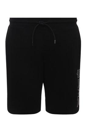 Мужские хлопковые шорты HUGO черного цвета, арт. 50456851 | Фото 1