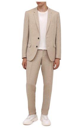 Мужской костюм HUGO бежевого цвета, арт. 50460810 | Фото 1