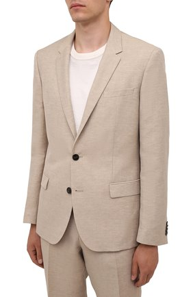 Мужской костюм HUGO бежевого цвета, арт. 50460810 | Фото 2