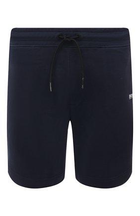 Мужские хлопковые шорты BOSS темно-синего цвета, арт. 50459459 | Фото 1