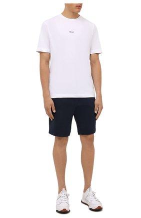 Мужские хлопковые шорты BOSS темно-синего цвета, арт. 50459459 | Фото 2