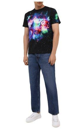 Мужская хлопковая футболка VALENTINO черного цвета, арт. WV3MG10V7L9 | Фото 2