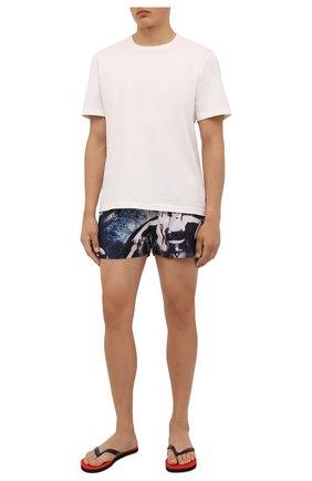 Мужские плавки-шорты LIMITATO синего цвета, арт. SINNERS/SWIMTRUNKS | Фото 2 (Материал внешний: Синтетический материал; Мужское Кросс-КТ: плавки-шорты; Принт: С принтом)