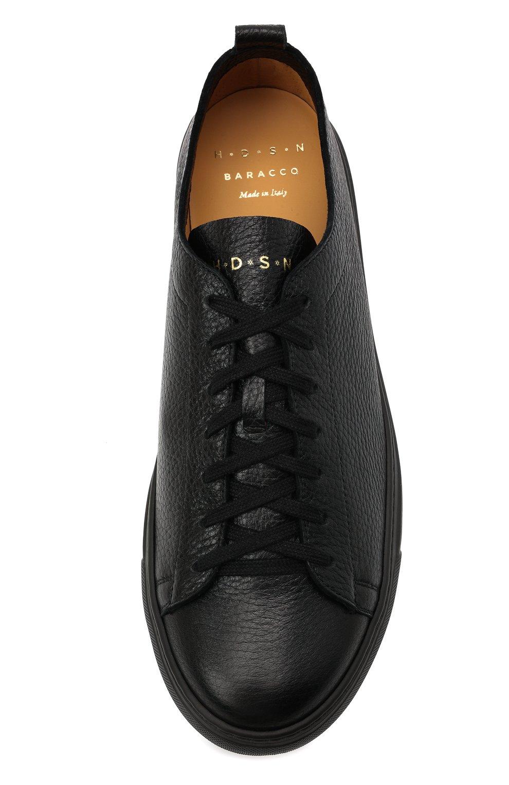 Мужские кожаные кеды H`D`S`N BARACCO черного цвета, арт. BRYAN.24N* | Фото 5 (Материал внутренний: Натуральная кожа; Подошва: Массивная)