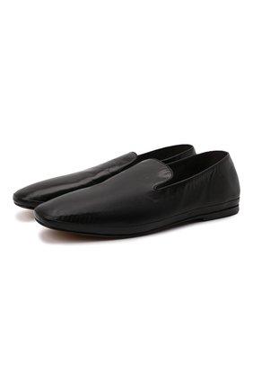 Мужские кожаные лоферы H`D`S`N BARACCO черного цвета, арт. PIUMA.T.0* | Фото 1
