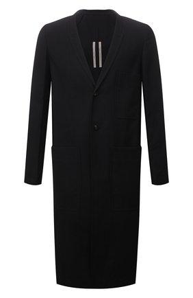 Мужской пальто RICK OWENS черного цвета, арт. RU02A5974/CVR | Фото 1