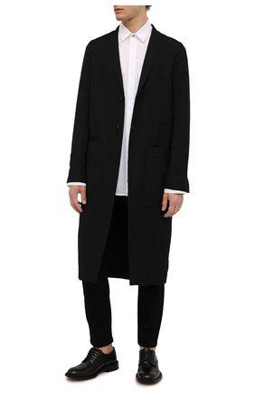 Мужской пальто RICK OWENS черного цвета, арт. RU02A5974/CVR | Фото 2