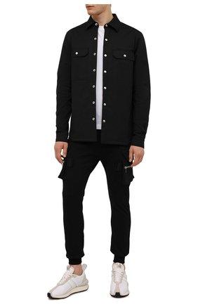 Мужская хлопковая куртка-рубашка RICK OWENS черного цвета, арт. RU02A5729/TE | Фото 2