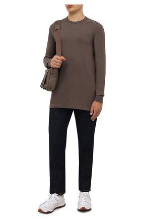 Мужская хлопковый лонгслив RICK OWENS коричневого цвета, арт. RU02A5266/JA | Фото 2