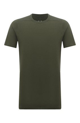 Мужская хлопковая футболка RICK OWENS зеленого цвета, арт. RU02A5264/JA | Фото 1