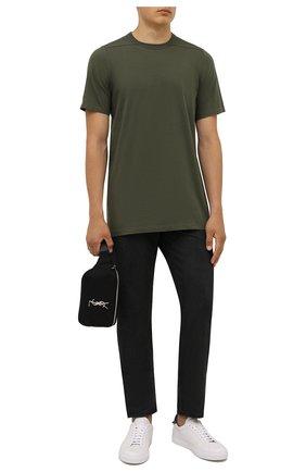 Мужская хлопковая футболка RICK OWENS зеленого цвета, арт. RU02A5264/JA | Фото 2