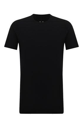 Мужская хлопковая футболка RICK OWENS черного цвета, арт. RU02A5264/JA | Фото 1