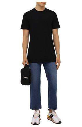 Мужская хлопковая футболка RICK OWENS черного цвета, арт. RU02A5264/JA | Фото 2