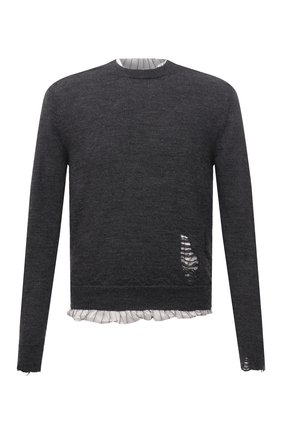 Мужской шерстяной свитер MAISON MARGIELA серого цвета, арт. S50HA1007/S17784 | Фото 1