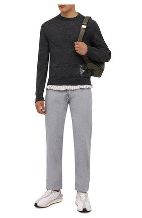 Мужской шерстяной свитер MAISON MARGIELA серого цвета, арт. S50HA1007/S17784 | Фото 2