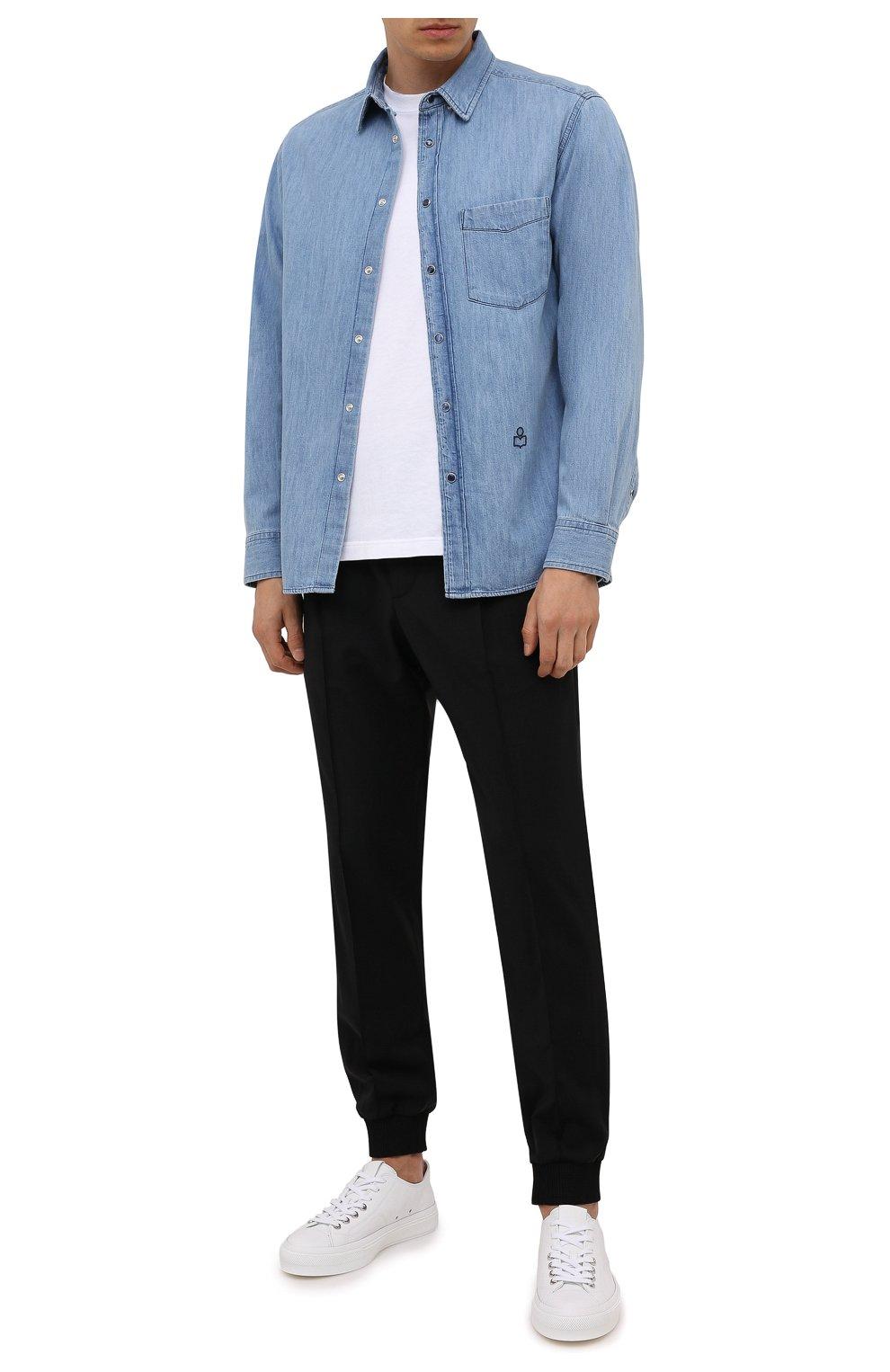 Мужские кожаные кеды city GIVENCHY белого цвета, арт. BH0050H0X2 | Фото 2 (Материал внутренний: Натуральная кожа; Подошва: Плоская)
