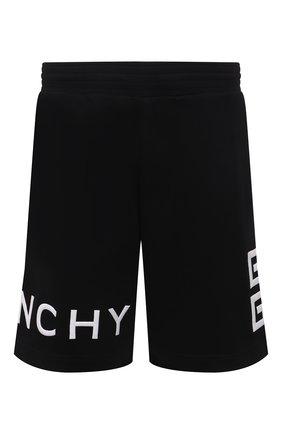 Мужские хлопковые шорты GIVENCHY черного цвета, арт. BM50WC3Y6U | Фото 1