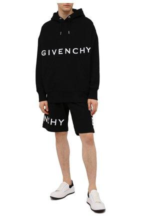 Мужские хлопковые шорты GIVENCHY черного цвета, арт. BM50WC3Y6U | Фото 2