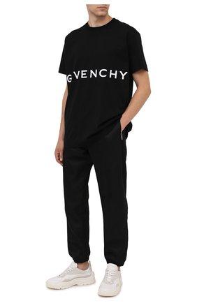 Мужские джоггеры GIVENCHY черного цвета, арт. BM50VZ13P9 | Фото 2