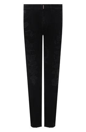 Мужские джинсы GIVENCHY черного цвета, арт. BM50ST50NY | Фото 1