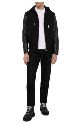 Мужские джинсы GIVENCHY черного цвета, арт. BM50ST50NY | Фото 2